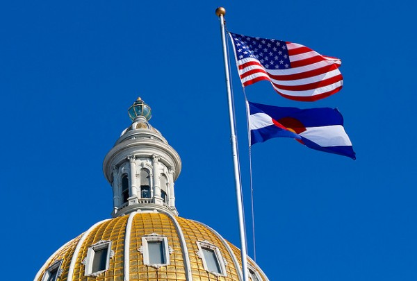 Colorado capitol flags