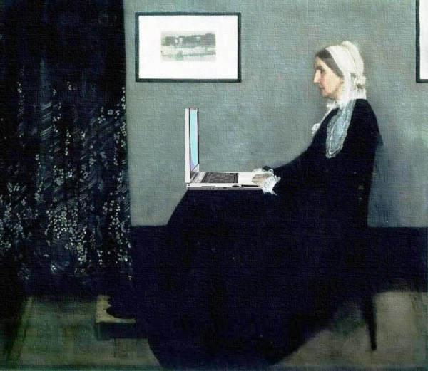 Whistler's Mother as Blogger
